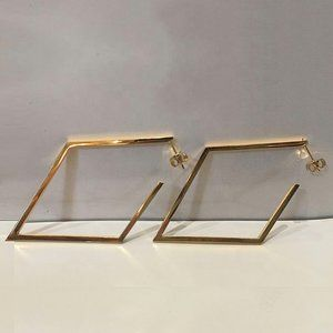 Jewelry - 18K Gold Stainless Steel Geometric Hoop Earrings